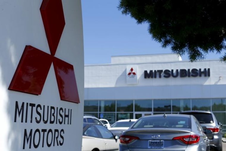 A Mitsubishi Motors dealership is shown in Poway, California