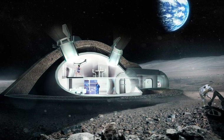 Image: European Space Agency is exploring a moon village