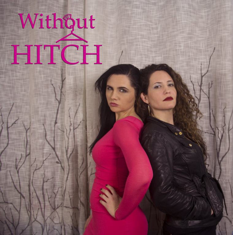 "Poster for ""Without a Hitch,"" a comedic web series featuring many Latino actors."