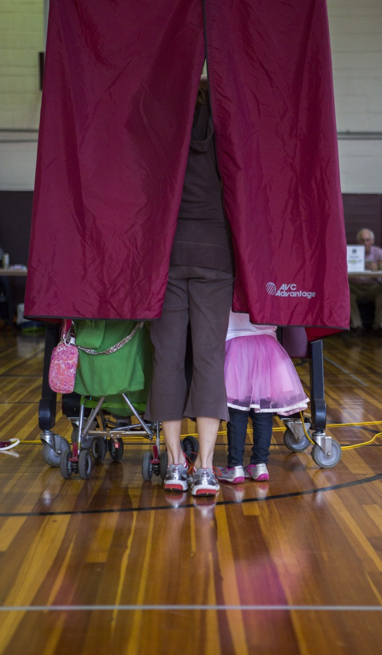 Image: Citizens In Five States Vote In Primary Elections