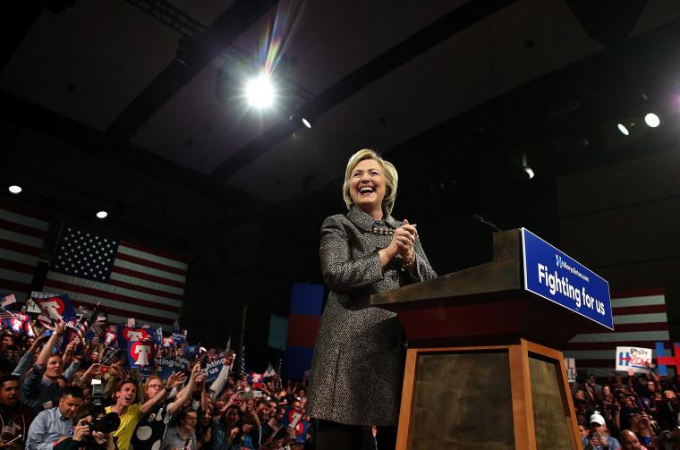 Image: Hillary Clinton Holds Pennsylvania Primary Night Event In Philadelphia