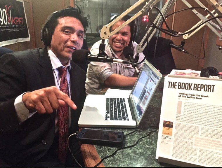 Tony Diaz, at left, in file photo from NP (Nuestra Palabra) weekly radio program