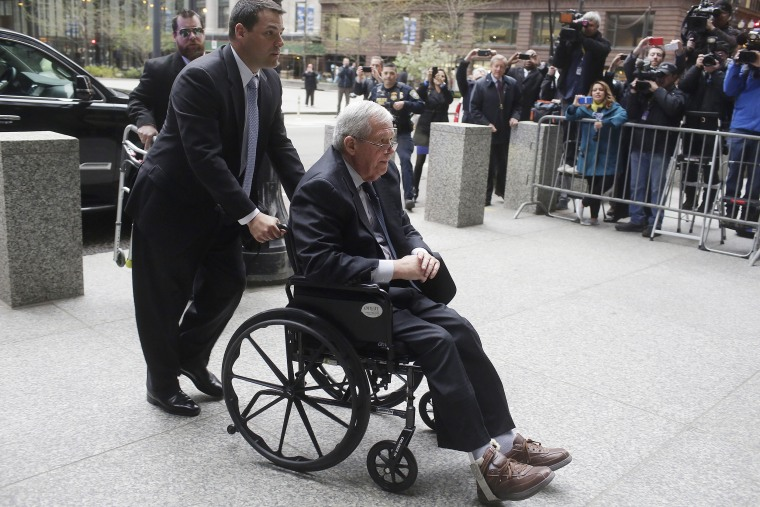 Image: Former House Speaker Dennis Hastert arrives for his sentencing in Chicago