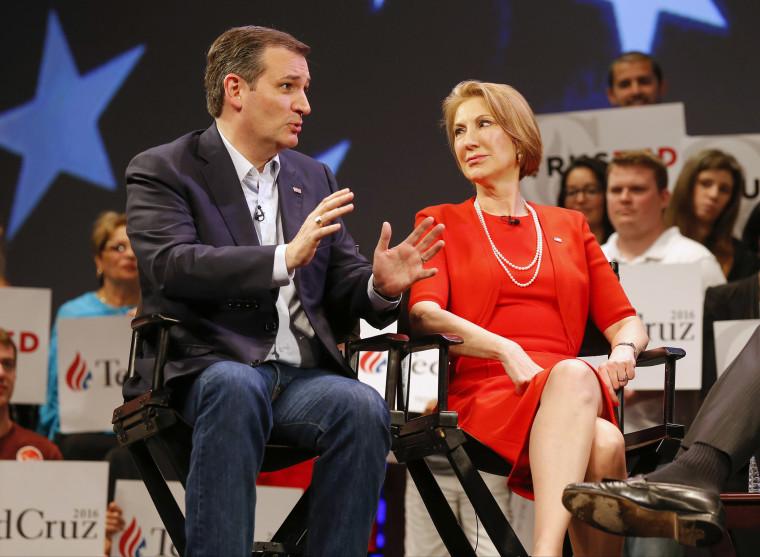 Image: Ted Cruz and Carly Fiorina