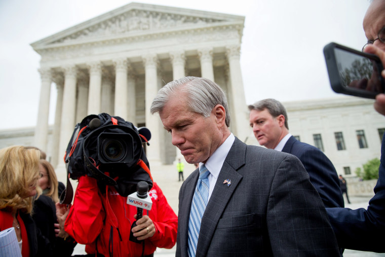 Image: Bob McDonnell leaves the Supreme Court