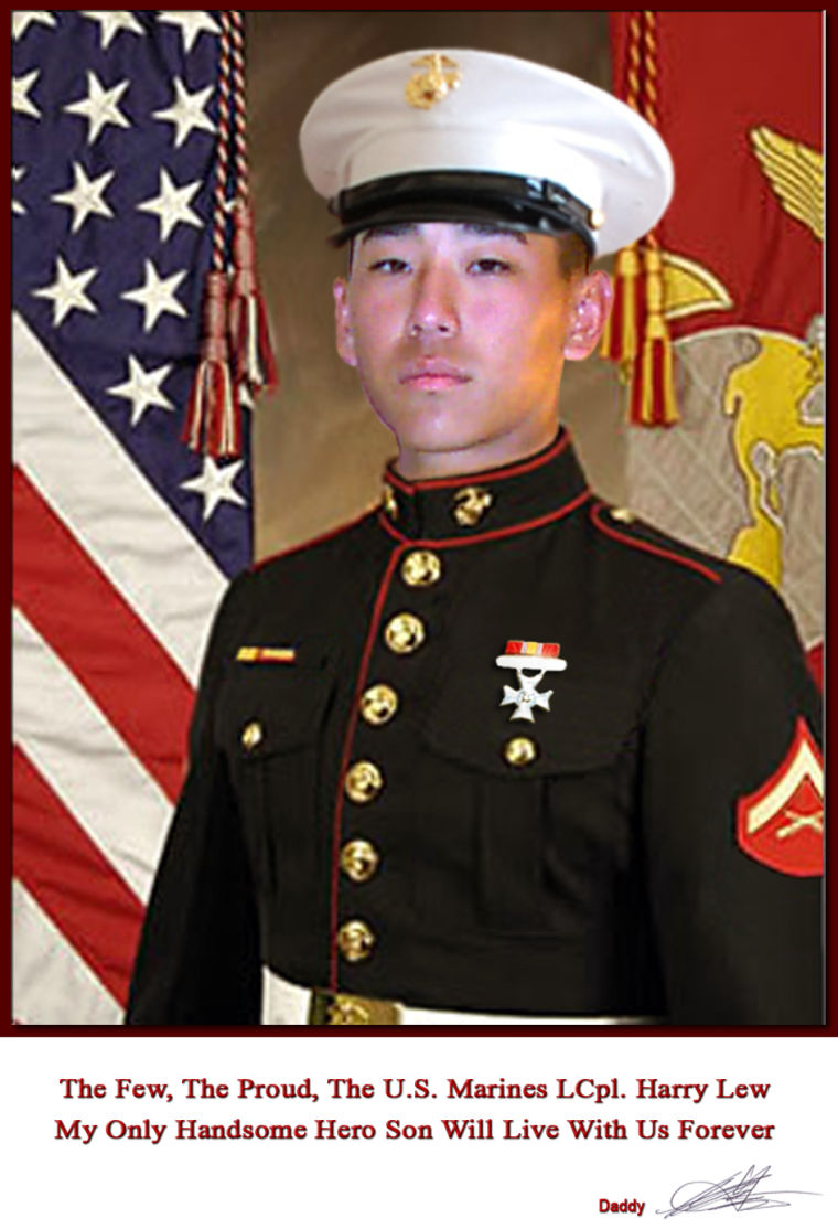 Lance Corporal Harry Lew was a United States Marine and nephew of Rep. Judy Chu. He committed suicide after being hazed by his platoon while deployed in Afghanistan in 2011.
