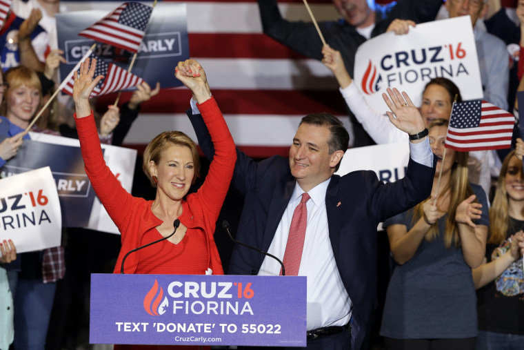 Image: Carly Fiorina and Ted Cruz