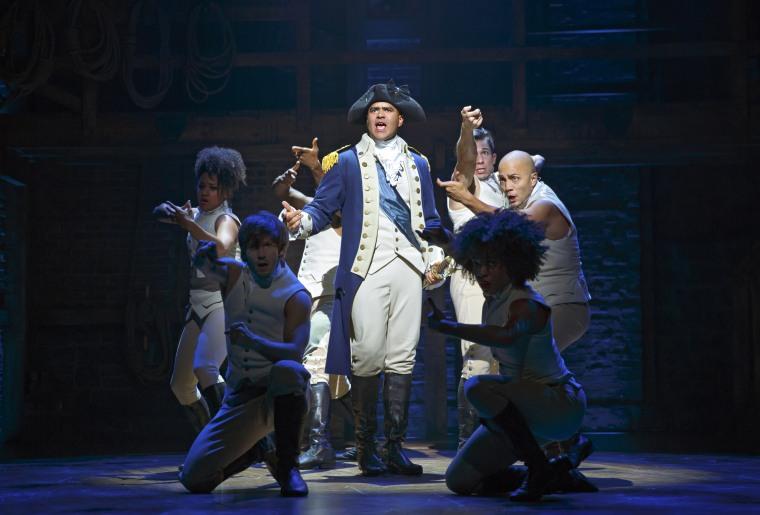 "Christopher Jackson plays George Washington in the Broadway hit, ""Hamilton."""