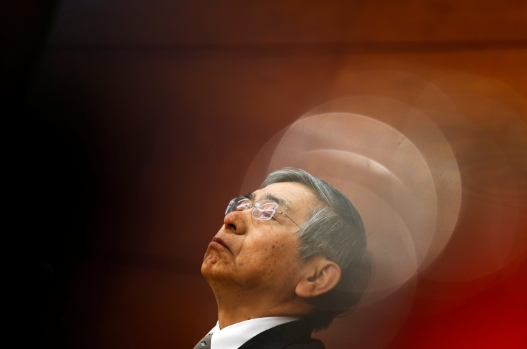 Image: Bank of Japan Governor Haruhiko Kuroda attends a news conference in Tokyo