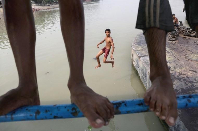 Image: Heat wave in Calcutta