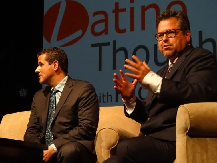 Marco Antonio Regil and Rick Najera at Latino Thought Makers Sept 2015.