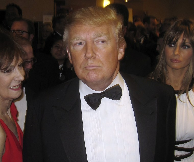 Image: File photo of Donald Trump at the White House Correspondents' Association dinner in Washington