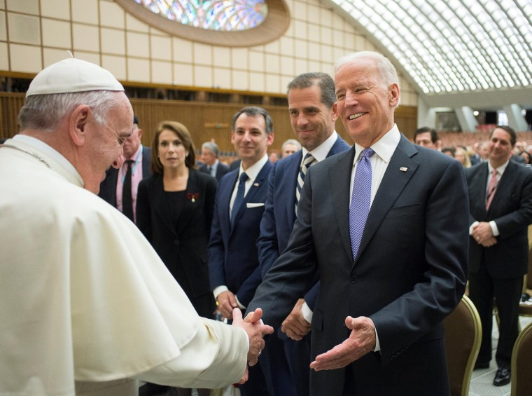 Image: Pope Francis meets U.S. Vice President Joe Biden in Paul VI hall at the Vatican