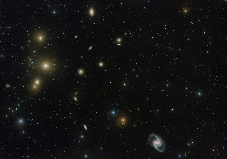Image: SPACE-VST-FORNAX-GALAXY-CLUSTER
