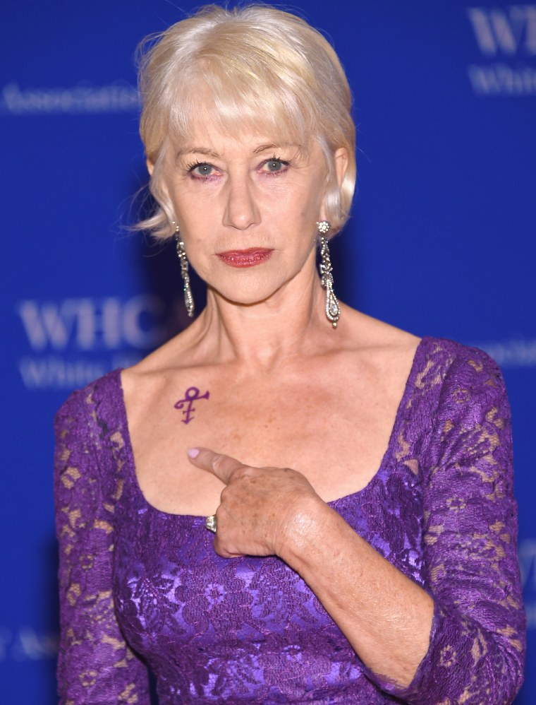 Helen Mirren at 2016 Whit House Correspondents' Dinner.