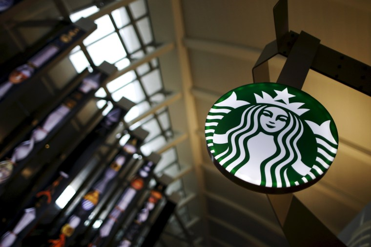 Image: File photo of a Starbucks store inside the Tom Bradley terminal at LAX airport in Los Angeles