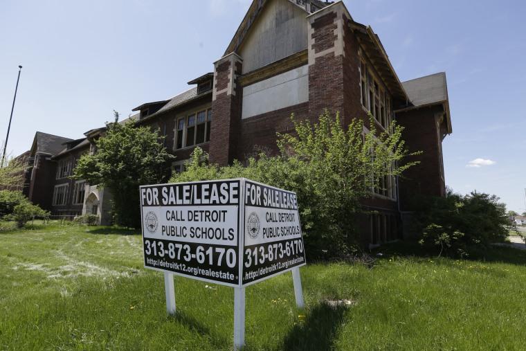 IMAGE: Detroit school for sale