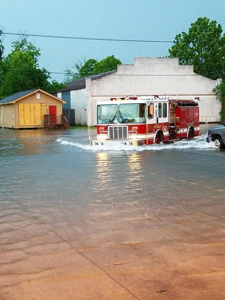 Louisiana Streets Waterlogged After 9 Inches of Rainfall
