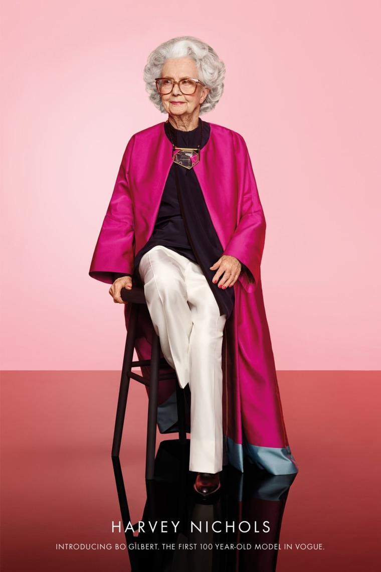 100-year-old model Bo Gilbert in British Vogue