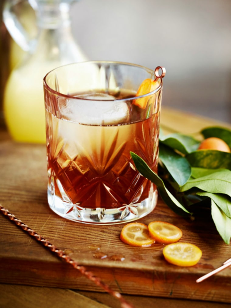 Cinco de Mayo cocktail recipe: Coffee margarita with kumquat garnish
