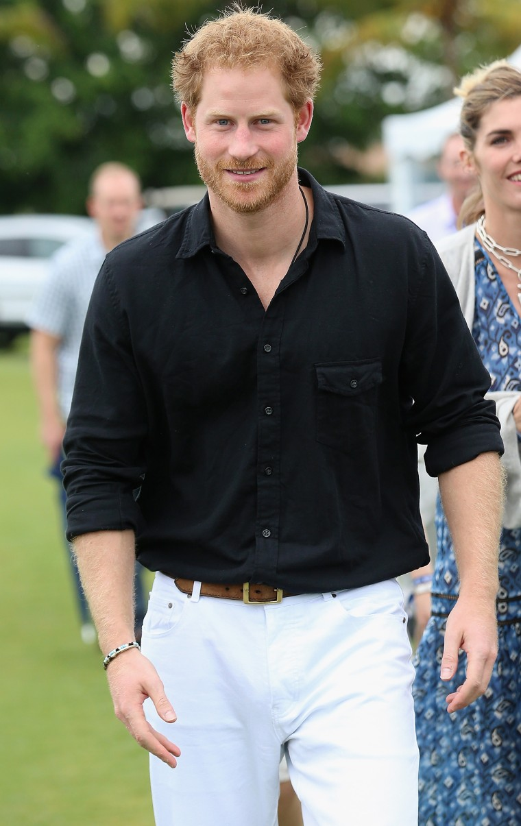 Prince Harry participates in the Sentebale Royal Salute Polo Cup