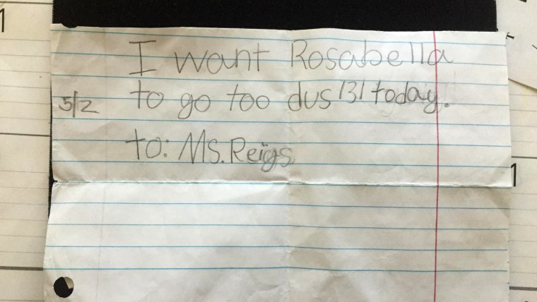 Parents Why Our Second Grader Is Not >> 2nd Grader Writes Fake Note To Trick School Into Letting Her Go Home