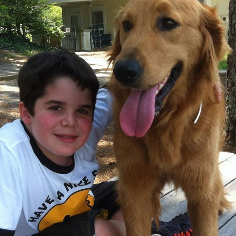 Seph Ware with his service dog Presley