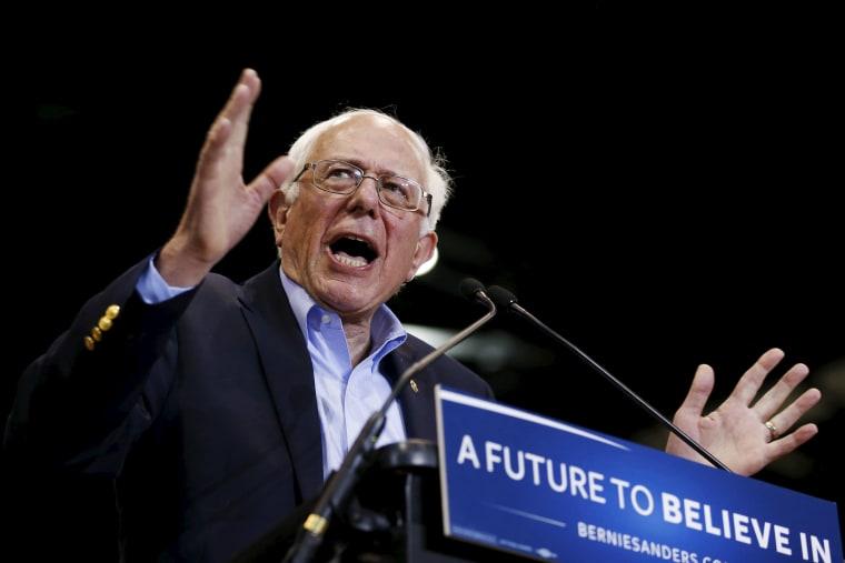 Image: Democratic U.S. presidential candidate Bernie Sanders speaks during a rally in Tampa, Florida