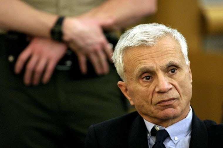 Actor Robert Blake listens to testimony in Los Angeles County Superior Court in Van Nuys, October 31..