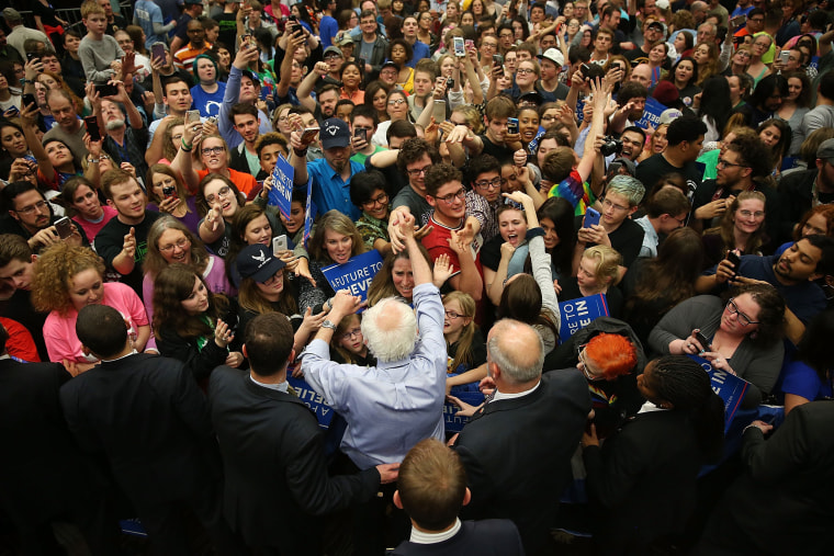 Image: Bernie Sanders Holds Campaign Rally In South Bend, IN