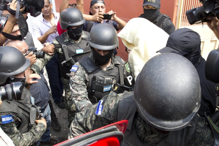 Image: ARREST OF SUSPECTS IN KILLING OF ENVIRONMENTALIST CACERES IN HONDURAS