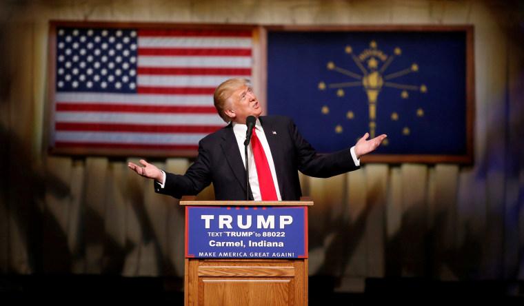 Image: U.S. Republican presidential candidate Trump