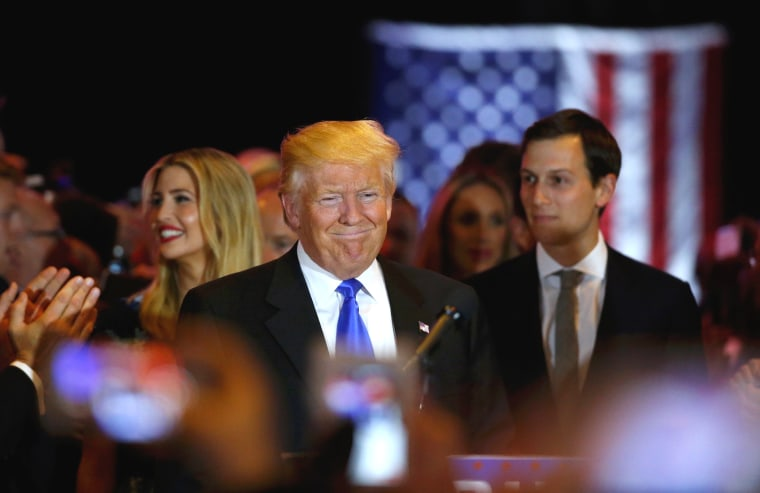 Image: Republican U.S. presidential candidate and businessman Donald Trump arrives to speak to supporters following the results of the Indiana state primary at Trump Tower in Manhattan, New York