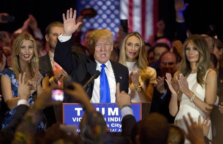 Image: Donald Trump, Melania Trump, Ivanka Trump,