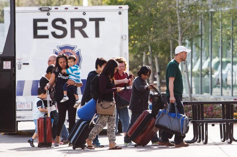 Image: Evacuees