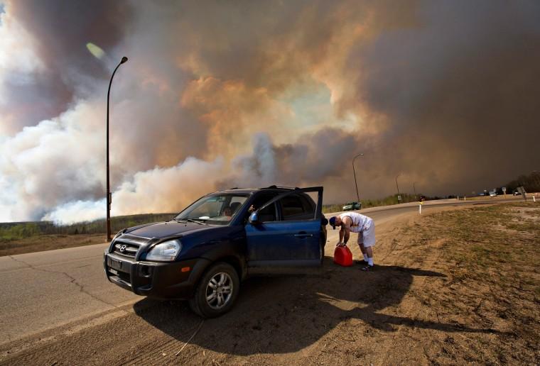 Image: Alberta fire