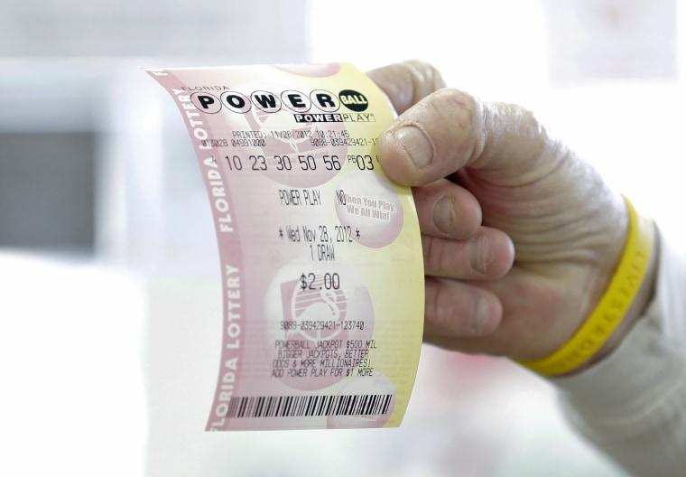 Image: Powerball ticket