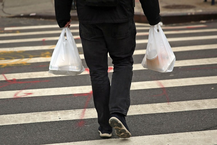 Image: New York City Council Votes Today On Proposed Plastic And Paper Bag Tax