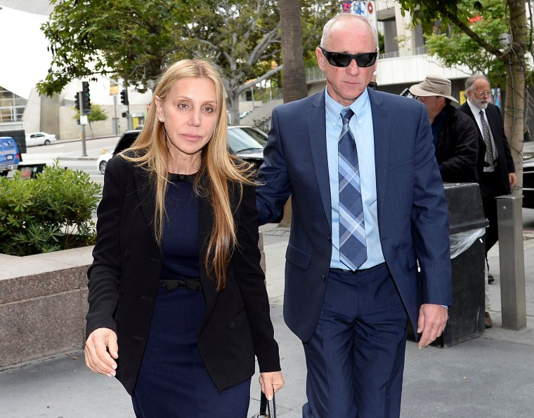 Image: Manuela Herzer, the former girlfriend of Sumner Redstone, heads back into court in Los Angeles
