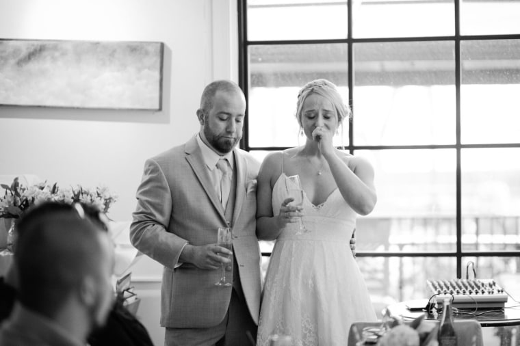 Brandon and Elise Phillippo at their wedding