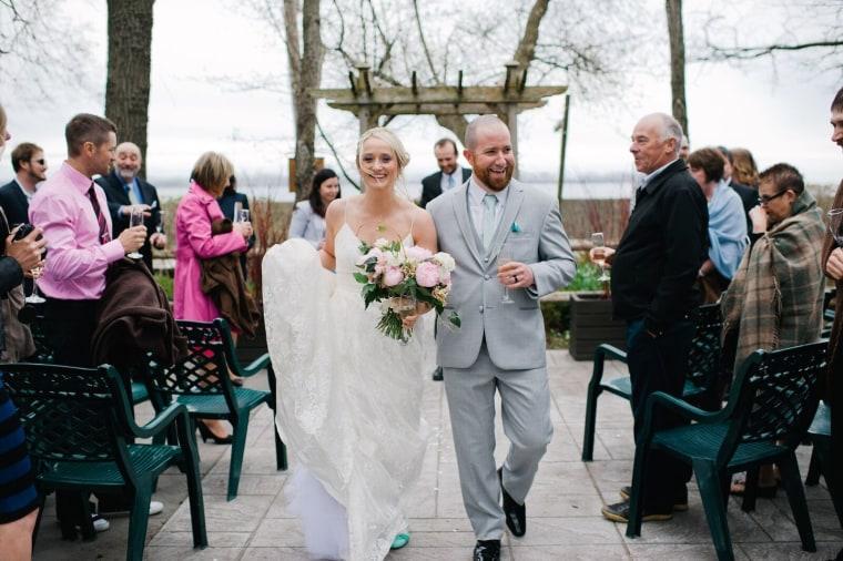 Brandon and Elise Phillippo, fort mcmurray wedding dress