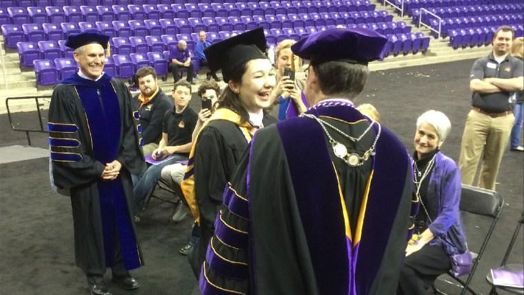University of Northern Iowa student gets private graduation ceremony