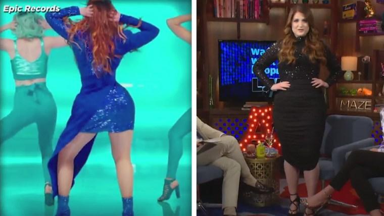 Meghan Trainor waist photoshopped in video