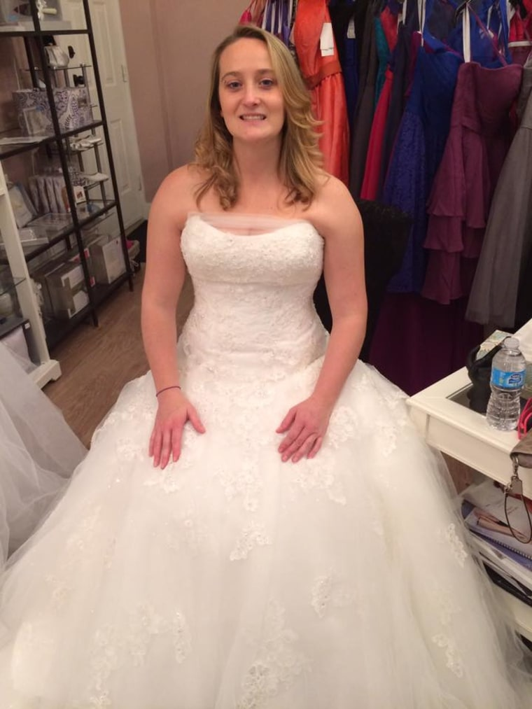 Elise Phillippo of fort mcmurray in her wedding dress