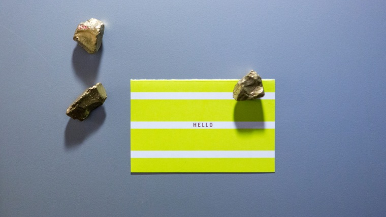 DIY gold rock magnets