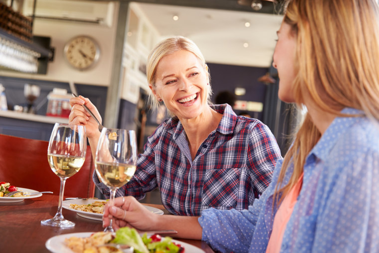 woman, restaurant