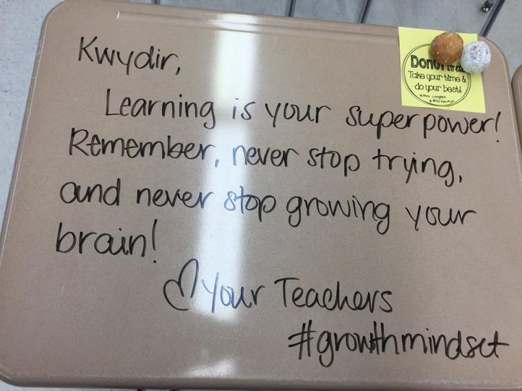 growth mindset desks