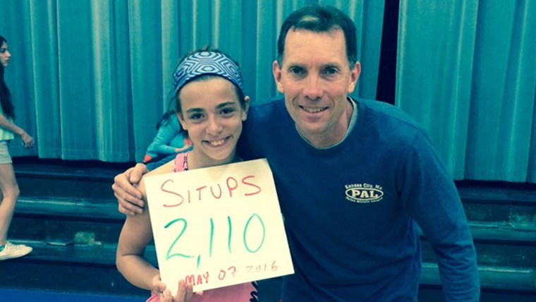 Girl does 2,110 situps