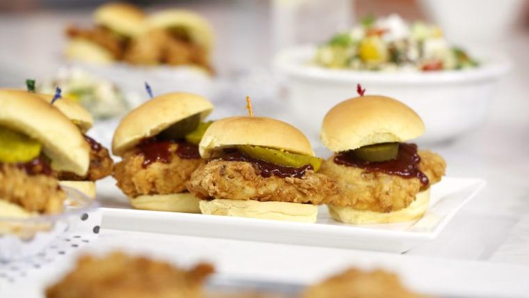Al Roker's barbecue chicken sliders