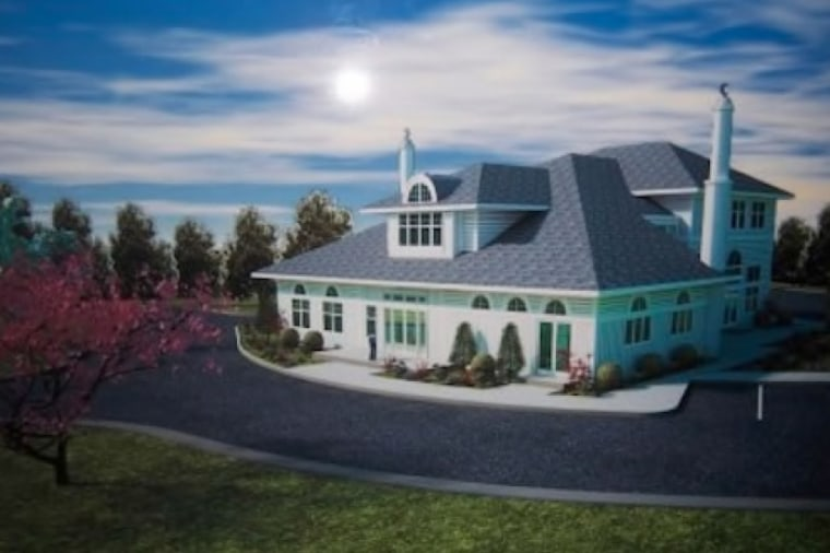 A rendering of the proposed mosque taken from court documents.
